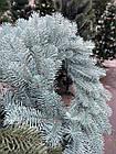 Литой Веночек новогодний голубой 40 см декоративный, фото 4