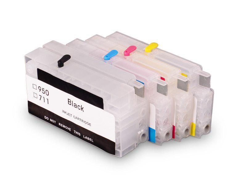 Перезаправляемые картриджи Ocbestjet для HP DesignJet T120/T230/T520 и HP OfficeJet Pro 7720/8600 без чипов