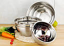 Кухонная миска для смешивания из нержавеющей стали Ø24 см, фото 8