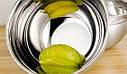 Кухонная миска для смешивания из нержавеющей стали Ø24 см, фото 10