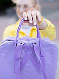 Рюкзак сумка Fjallraven Kanken classic 16 л. канкен классик сиреневый женский, для девочки подростка, фото 5