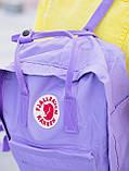 Рюкзак сумка Fjallraven Kanken classic 16 л. канкен классик сиреневый женский, для девочки подростка, фото 6