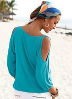 Блуза трикотажная с прорезями на плечах, фото 1
