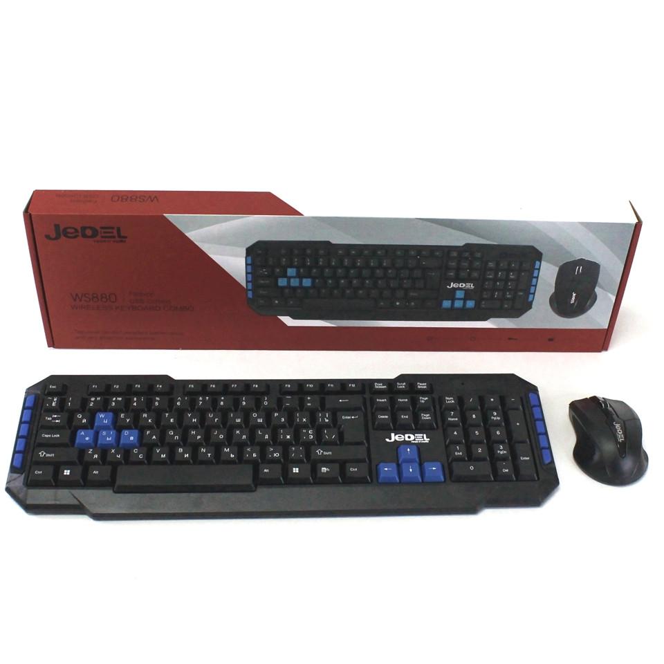 Комплект беспроводная клавиатура и мышь для компьютера Jedel WS880 Игровая мультимедийная