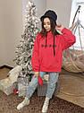Свитшот, худи, толстовка утепленная для девочки подростка Размеры 140-164 тм Madlen, фото 4