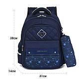 Школьный ортопедический рюкзак с пеналом | детский портфель ранец для девочки первоклассницы 1 - 2 - 3 класс, фото 7