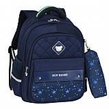 Школьный ортопедический рюкзак с пеналом | детский портфель ранец для девочки первоклассницы 1 - 2 - 3 класс, фото 2