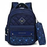 Школьный ортопедический рюкзак с пеналом | детский портфель ранец для девочки первоклассницы 1 - 2 - 3 класс, фото 5