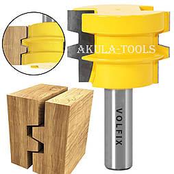Фреза для зрощування деревини універсальна по ширині і довжині по дереву VOLFIX