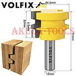 Фреза для сращивания древесины универсальная по ширине и длине по дереву VOLFIX, фото 3