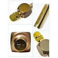 Беспроводной Bluetooth Микрофон для Караоке Микрофон DM Karaoke Y 63 + BT. Цвет: золотой, фото 8
