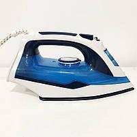 Электрический паровой утюг с керамической подошвой Domotec MS 2202 ручной керамический пароутюг, фото 5