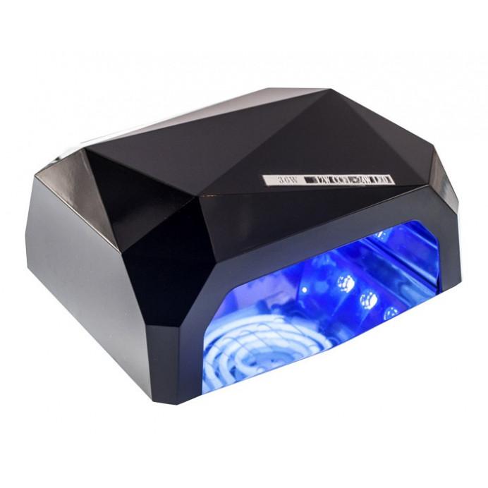 Сушилка для ногтей, лампа для гель лака UV LAMP CCF+LED. Цвет: черный
