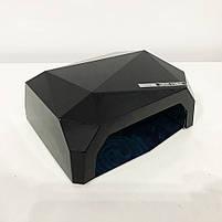 Сушилка для ногтей, лампа для гель лака UV LAMP CCF+LED. Цвет: черный, фото 6