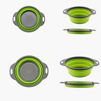 Дуршлаг складной COLLAPSIBLE FILTER BASKETS (силиконовый). Цвет: зеленый, фото 3