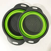 Дуршлаг складной COLLAPSIBLE FILTER BASKETS (силиконовый). Цвет: зеленый, фото 8
