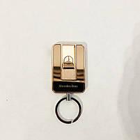 Зажигалка спиральная USB-811. Mercedes. Цвет: золотой, фото 7