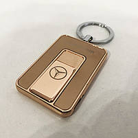 Зажигалка спиральная USB-811. Mercedes. Цвет: золотой, фото 9