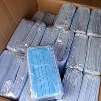 Супер качество: маски медицинские, Защитные маски, синие, паянные. Произведенные на заводе. Не шитые. 1000, фото 6
