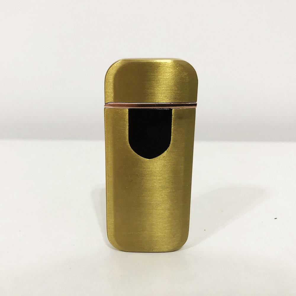 Зажигалка электрическая спиральная. Цвет: золотой сатин