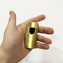Зажигалка электрическая спиральная. Цвет: золотой сатин, фото 3