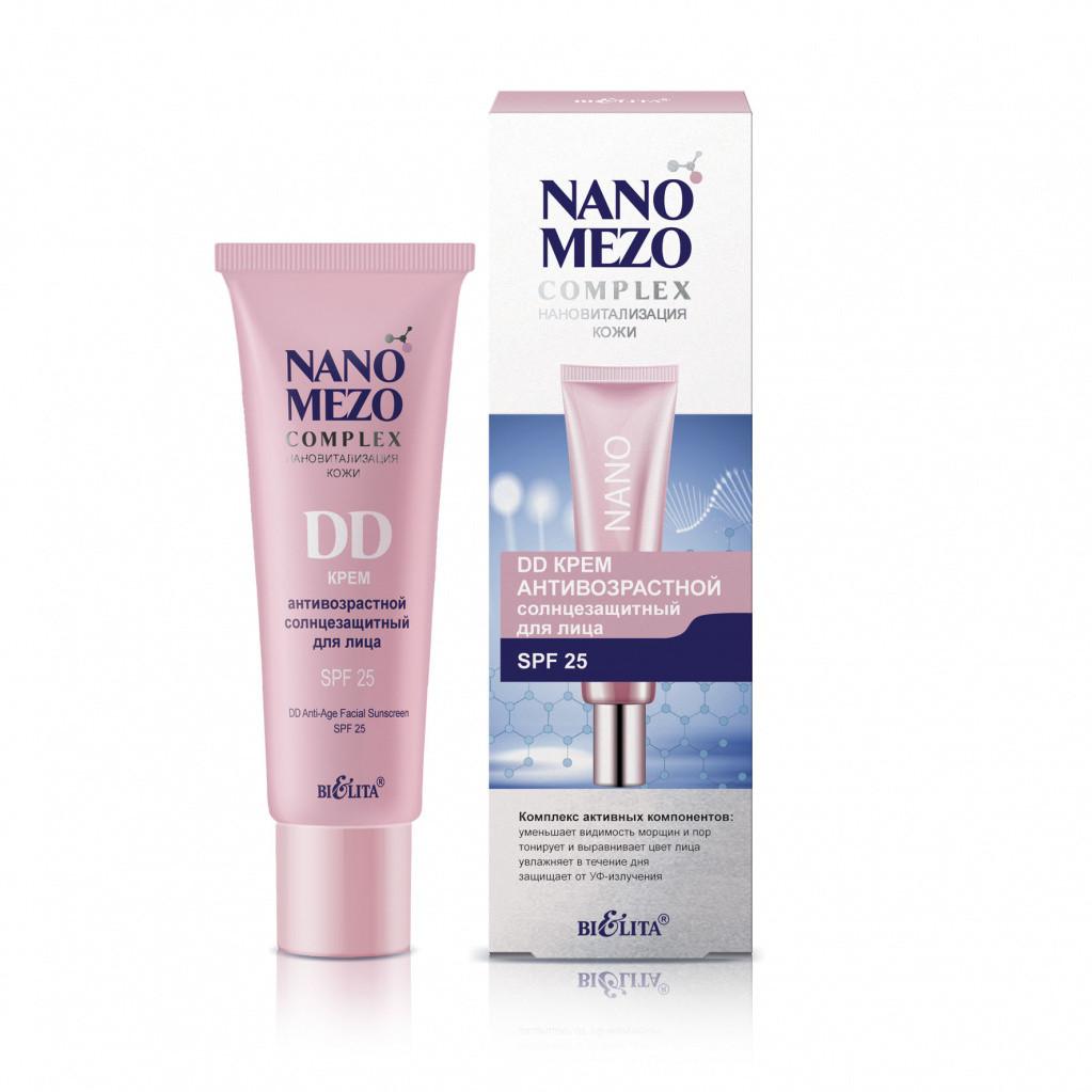 DD крем антивозрастной солнцезащитный для лица SPF25 Bielita NANOMEZOCOMPLEX 30 мл