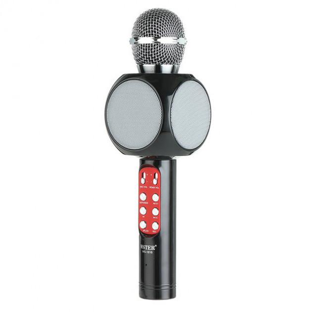 Беспроводной микрофон караоке bluetooth WSTER WS-1816 Black