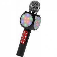 Беспроводной микрофон караоке bluetooth WSTER WS-1816 Black, фото 3