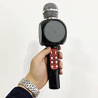 Беспроводной микрофон караоке bluetooth WSTER WS-1816 Black, фото 4