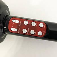 Беспроводной микрофон караоке bluetooth WSTER WS-1816 Black, фото 8