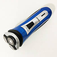 Электробритва GEEMY GM-7090 3 в 1 триммер. Цвет: синий, фото 3