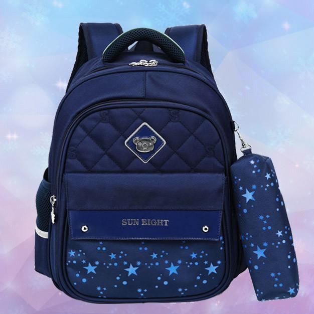 Школьный ортопедический рюкзак с пеналом | детский портфель ранец для девочки первоклассницы 1 - 2 - 3 класс