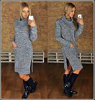 Женский теплое вязанное платье, Турция (2 цвета)
