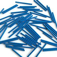 Стеклярус длинный 30 мм. Цвет: Голубой матовый. Упаковка 10 шт.