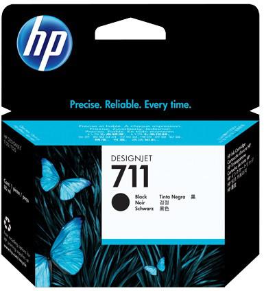 Картридж HP No.711 для HP DesignJet T120/125/130/520/525/530, Black, 80 мл