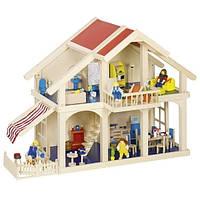 Кукольный домик Goki два этажа с внутренним двориком (51893G)