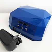Сушилка для ногтей UV LAMP CCF+LED. Цвет: синий, фото 4