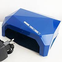 Сушилка для ногтей UV LAMP CCF+LED. Цвет: синий, фото 5