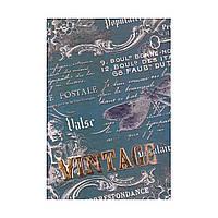 "Блокнот А5 тв.обл. 192л. клетка ""Vintage"" тиснение, клетка 1В160"