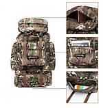 Рюкзак тактический xs1707 черный, 70 л, фото 3