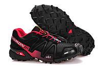 Кроссовки мужские беговые Salomon Speedcross 3 (саломон) черные