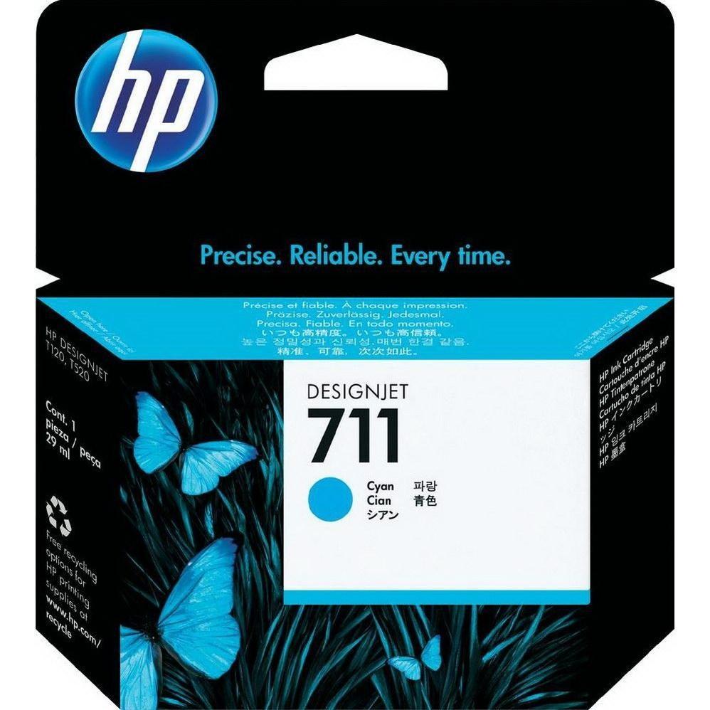 Картридж HP No.711 для HP DesignJet T120/125/130/520/525/530, Cyan, 29 мл