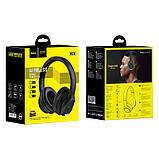 Наушники Bluetooth HOCO Journey Hi-Res W28, черные, фото 5