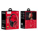 Наушники Bluetooth HOCO Journey Hi-Res W28, красные, фото 4