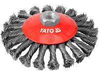 Проволочная щётка для болгарки 125мм Yato YT-4764