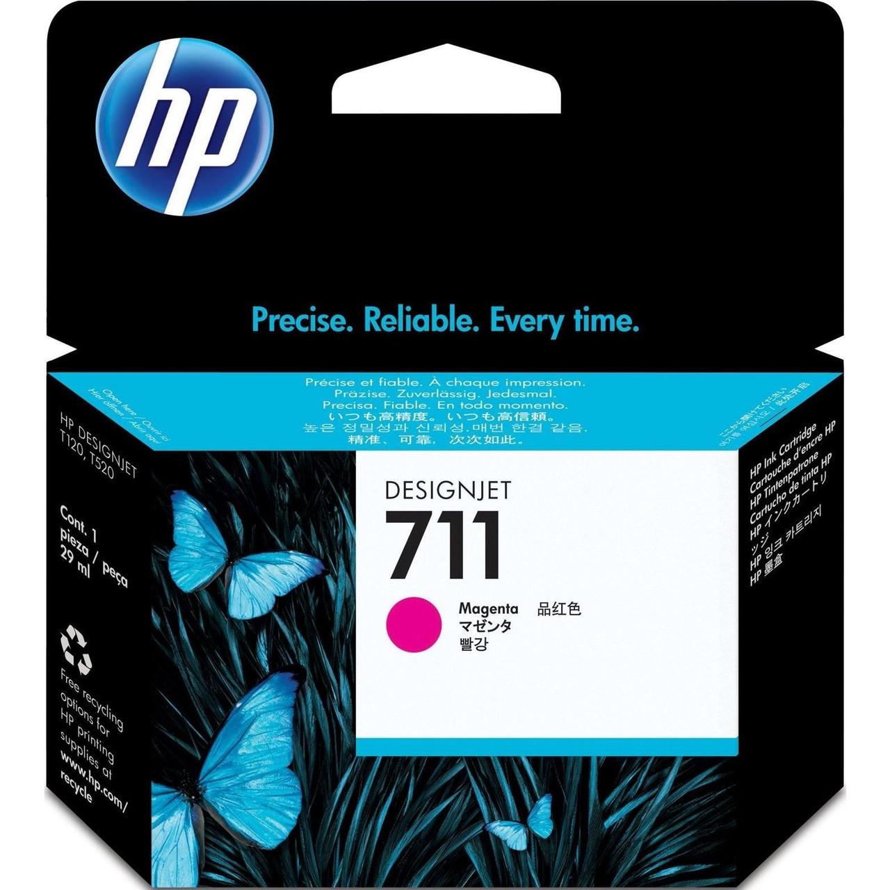 Картридж HP No.711 для HP DesignJet T120/125/130/520/525/530, Magenta, 29 мл