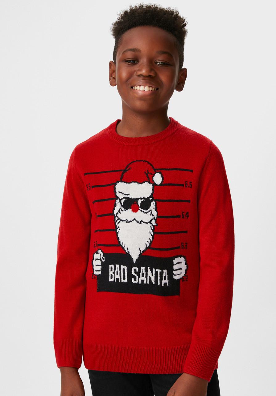 Новорічний червоний светр для хлопчика C&A Німеччина Розмір 146-152