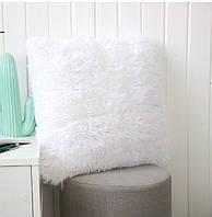 Декоративная подушка 40х40 травка длинный ворс