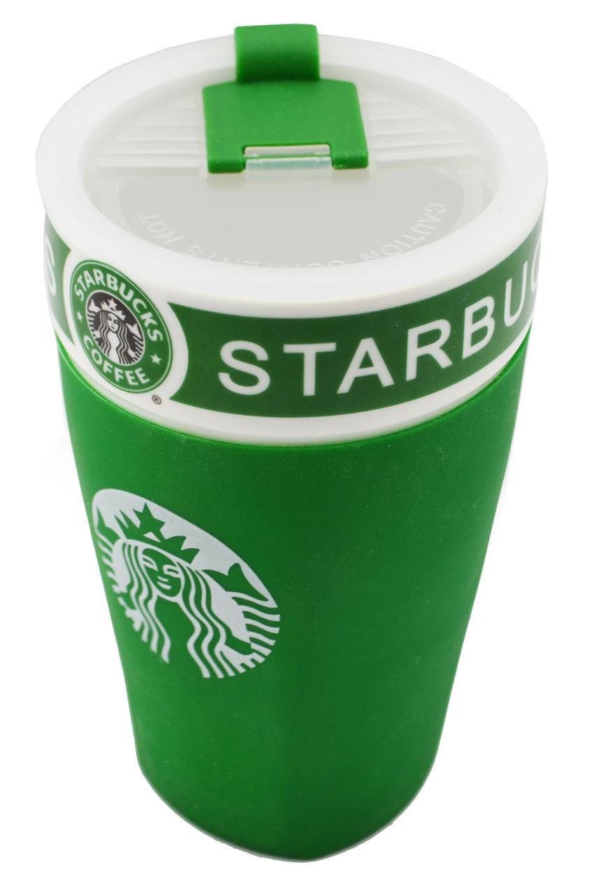 Чашка керамическая кружка Starbucks PY 023 зеленая