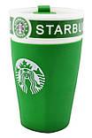 Чашка керамическая кружка Starbucks PY 023 зеленая, фото 2